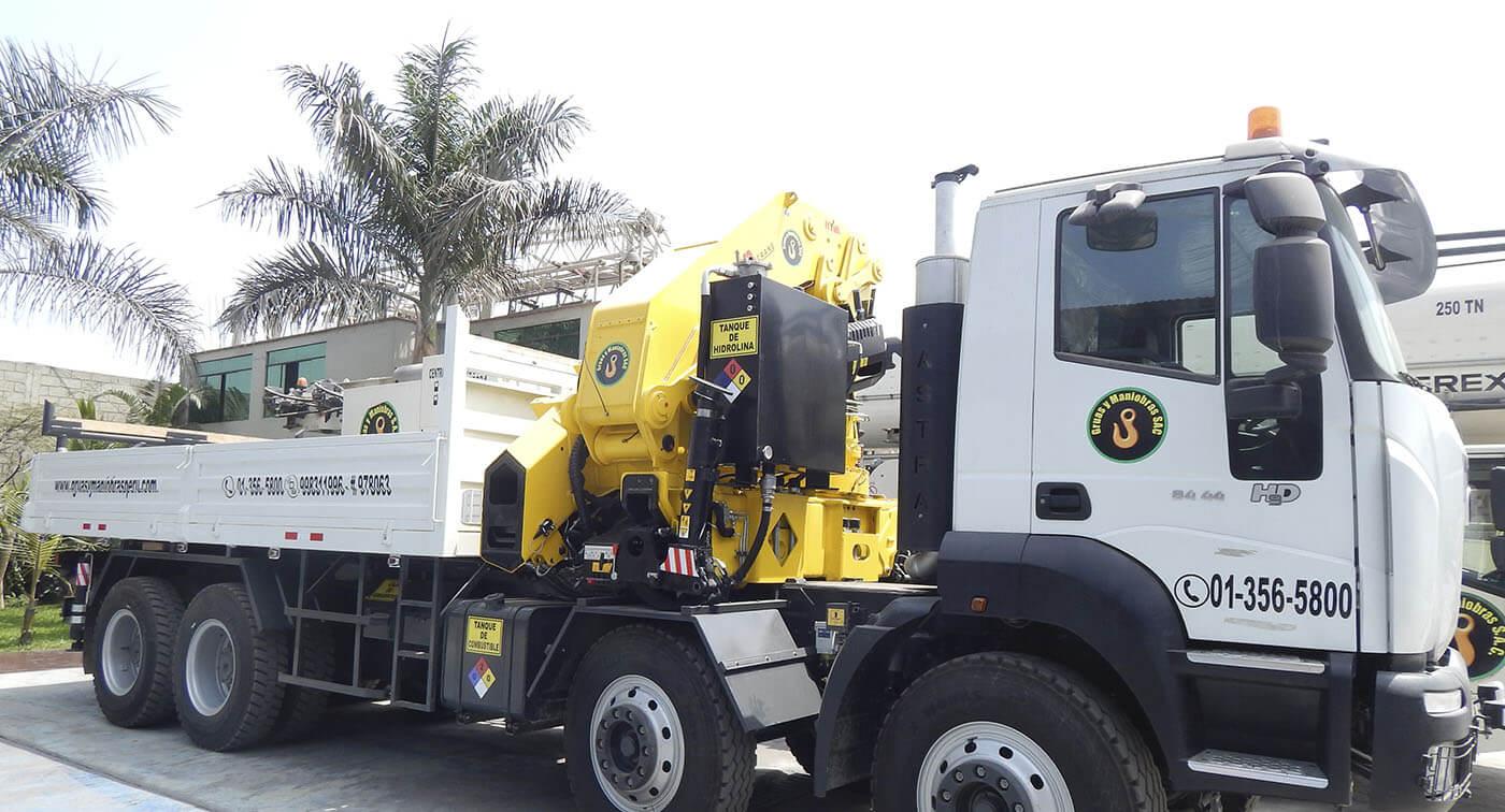 Alquiler de camiones grúa