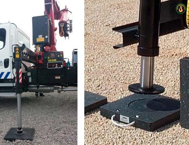 estabilizadores de camión grúa