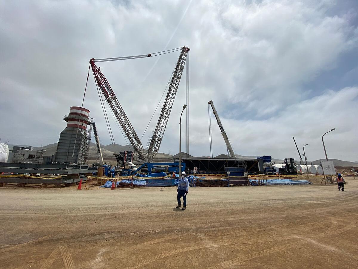 izajes de estructuras - Central Termoeléctrica Las Flores