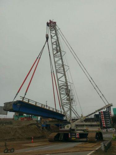 Desmontaje de vigas puente arica-km 35 panamericana sur