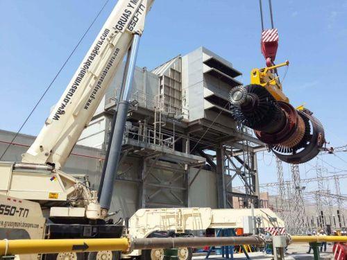 Montaje de turbina en central térmica enersur