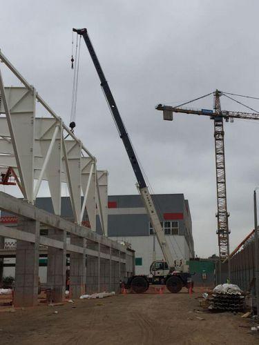 Montaje de techo para el Velódromo y el Polideportivo de los Juegos Panamericanos